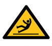 滑りによる転倒に注意