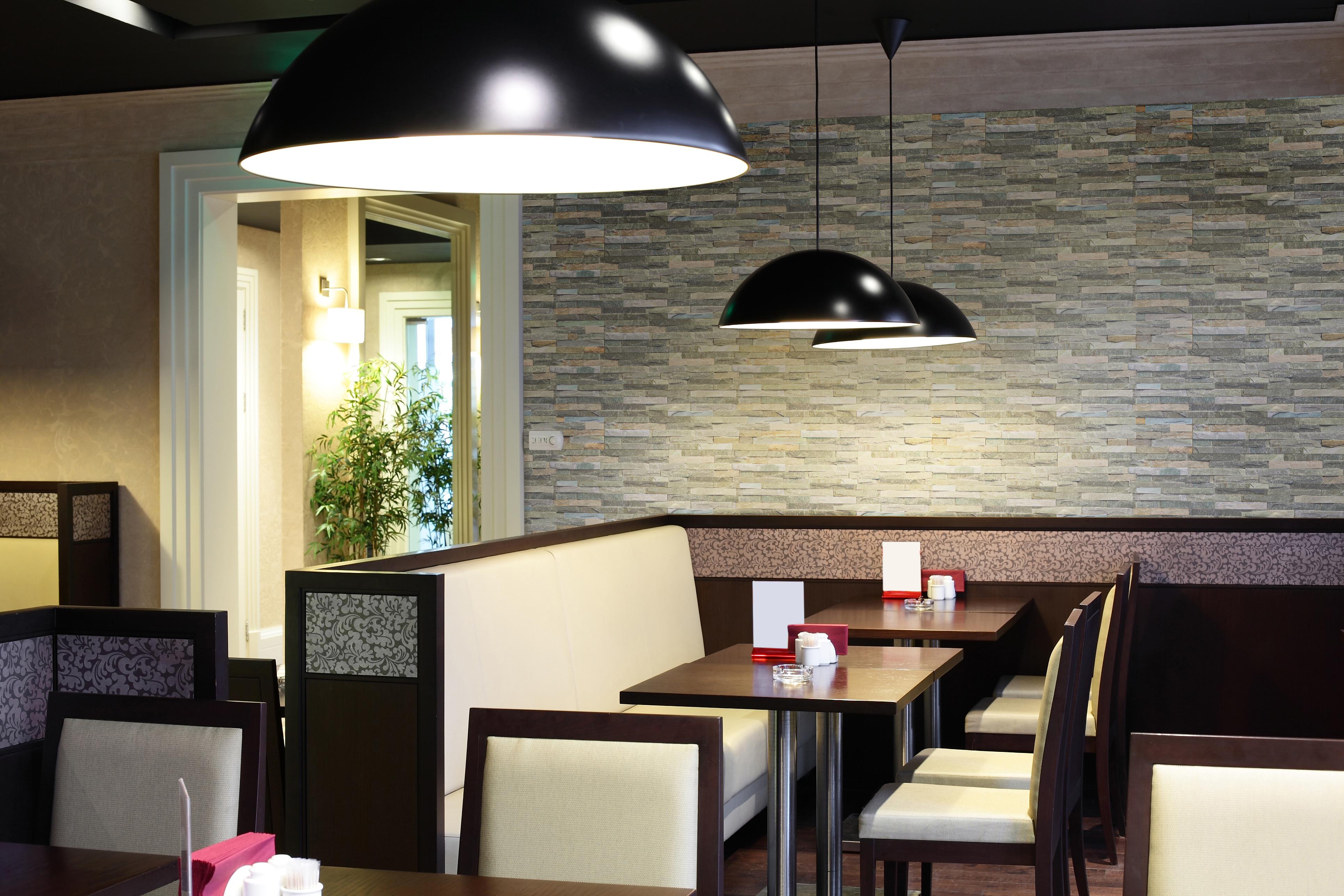 モダンなレストランのクラフトクォーツ壁イメージ